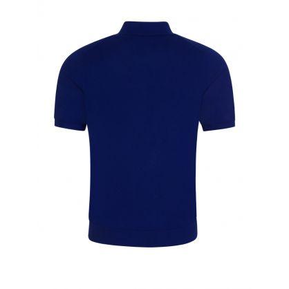 Blue Zebra Knit Polo