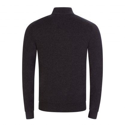 Black Zip Neck Knitted Jumper
