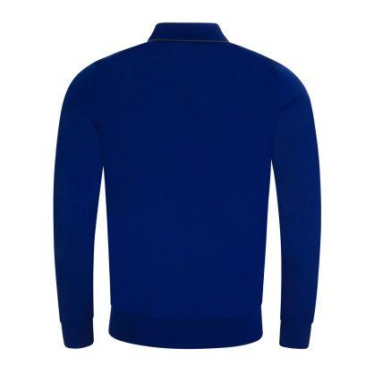 Blue Merino Wool Knitted Polo Shirt
