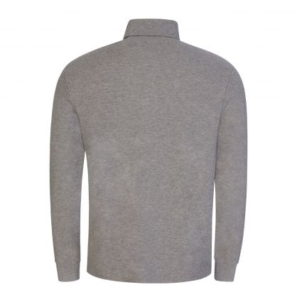 Grey Turtle Neck Cotton Waffle T-Shirt