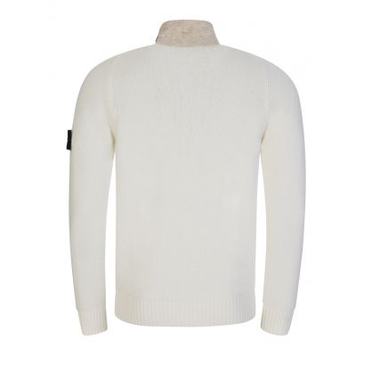 Cream Wool Blend Cardigan