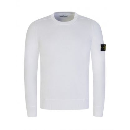 White Fine Cotton Jumper