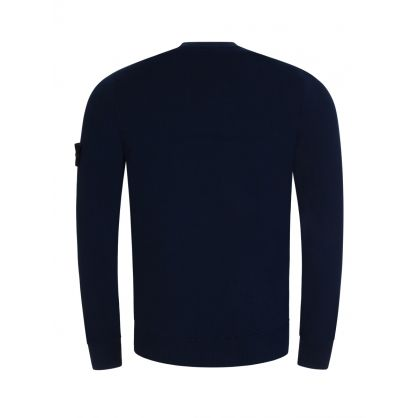 Blue Cotton Fine Knitted Jumper
