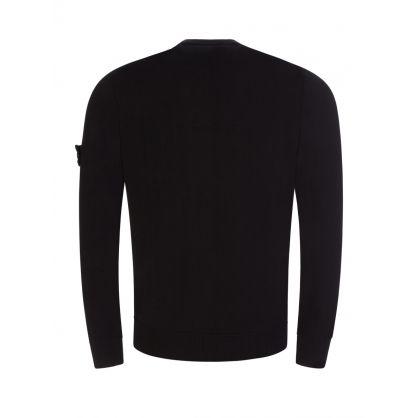 Black Cotton Fine Knit Jumper