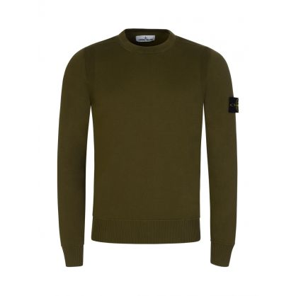 Green Cotton Fine Knit Jumper