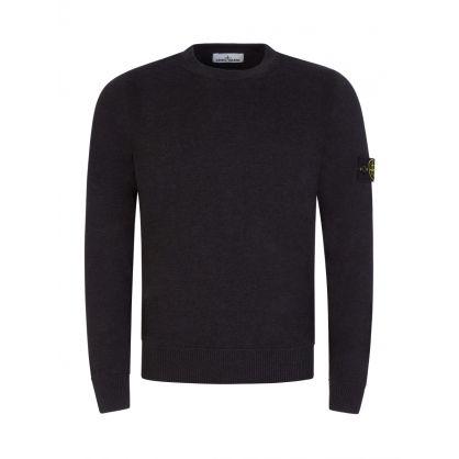 Grey Cotton Fine Knit Jumper