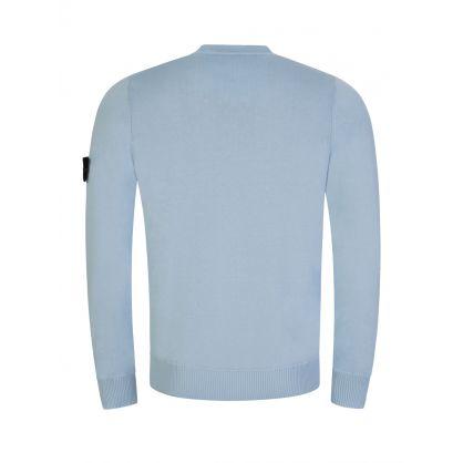 Blue Cotton Fine Knit Jumper