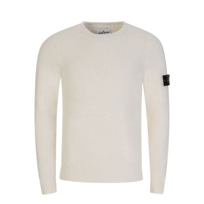 Cream Lambswool Knitted Jumper