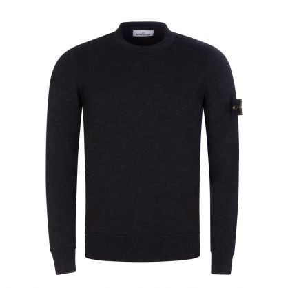 Charcoal Pure Wool Knitted Jumper
