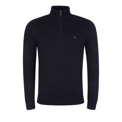 Black Cashmere 1/2 Zip Jumper
