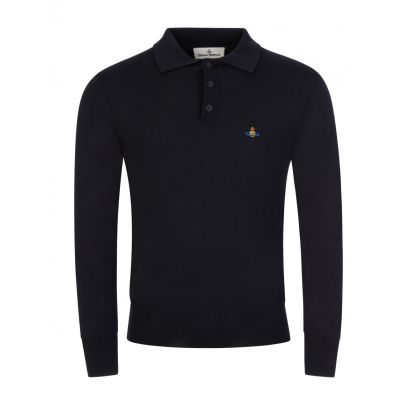 Blue Polo Knit Jumper