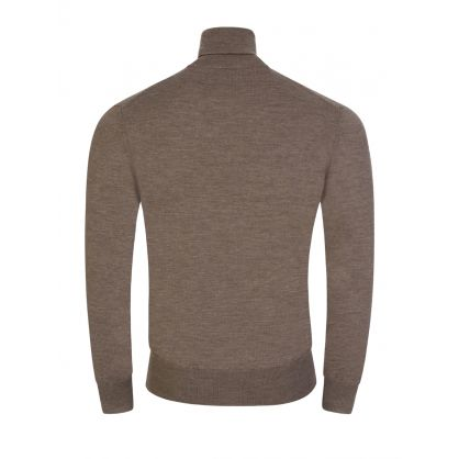 Brown Classic High Neck Jumper