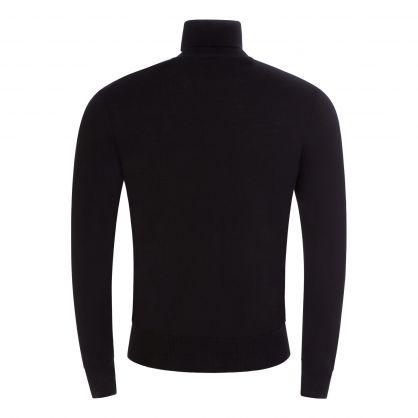 Black Merino Wool High Neck Jumper