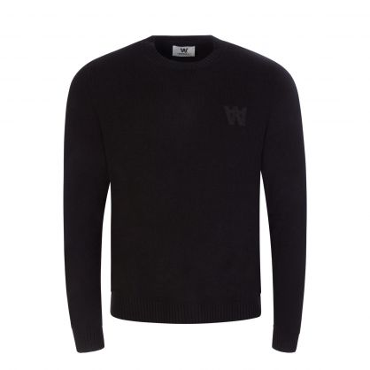 Black Double A Kevin Lambswool Jumper