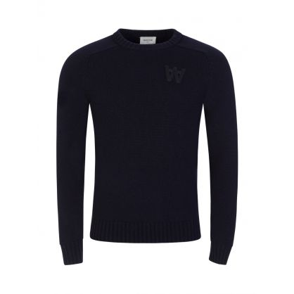 Navy Knitted Kevin Jumper