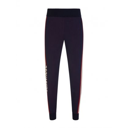 Black Rib-Knit Active Leggings