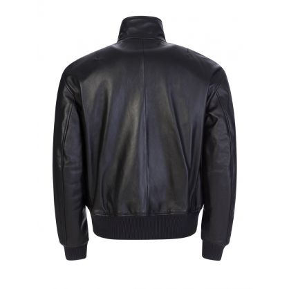 Black Nappa Leather Ledger Jacket