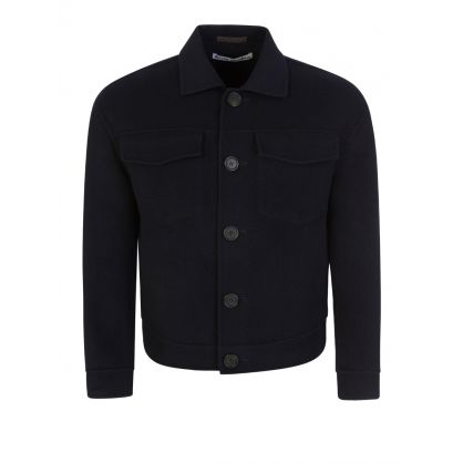 Navy Dagnite Double Twill Jacket