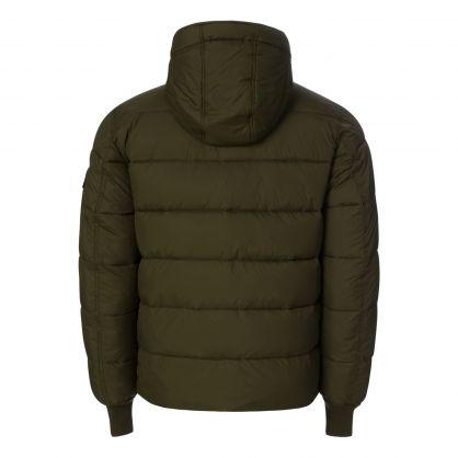 Dark Green Hooded Puffer Alpha FD Jacket