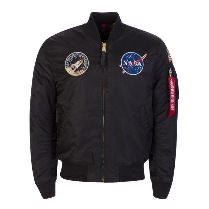Black MA-1 VF NASA Flight Jacket