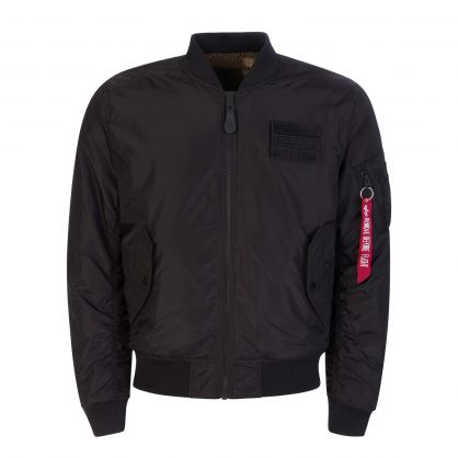 Black/Camouflage-Print MA-1 FLC Reversible Jacket