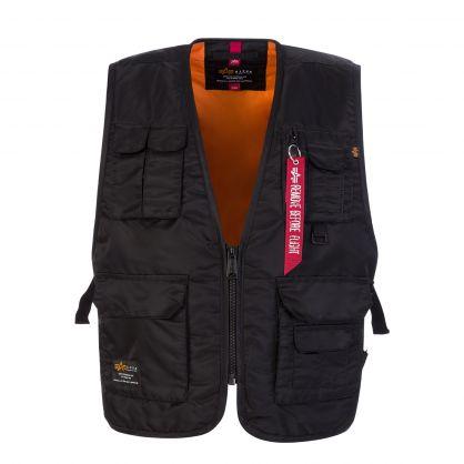 Black Utility Vest