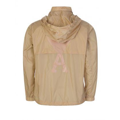 AMI De Coeur Beige Hooded Windbreaker Jacket