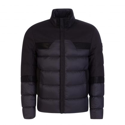 Black Athleisure J_Fowler Collar Logo Down Jacket