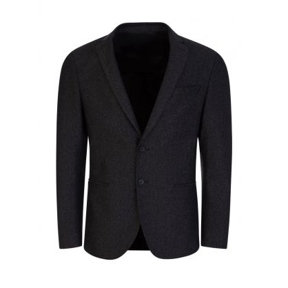 Black Slim-Fit Norwin4-J Suit Jacket