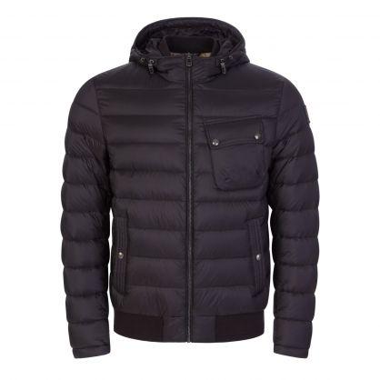 Black High-Density Poly Streamline Puffer Jacket