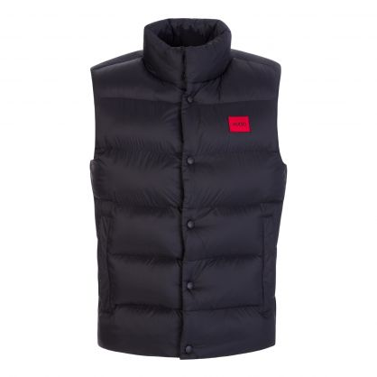 Black Baltino2141 Water-Repellent Recycled Fabric Gilet
