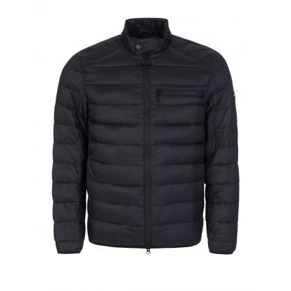 Black Seasons Baffle Quilted Jacket