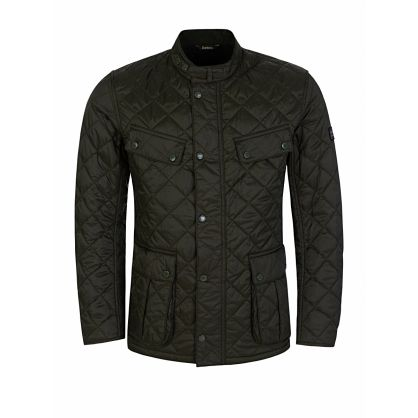 Green Slim-Fit Ariel Quilted Jacket