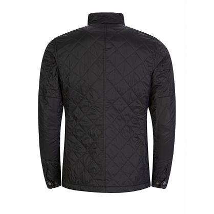 Black Slim-Fit Ariel Quilt Jacket