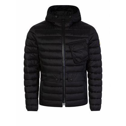 Black Ouston Hood Quilt Jacket