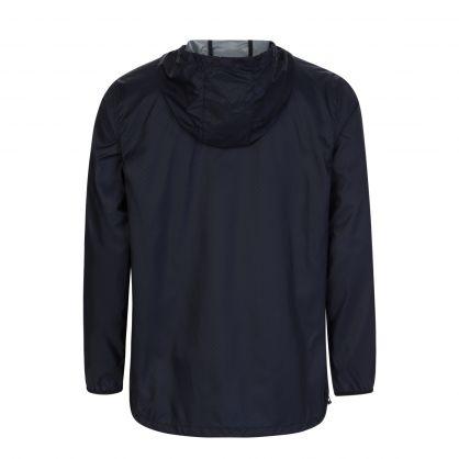Black Print Accelerator Raincoat