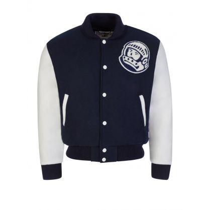 Navy Astro Varsity Jacket