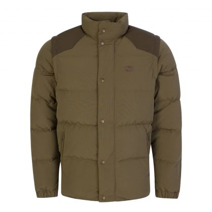 Green Detachable Sleeve Down Jacket