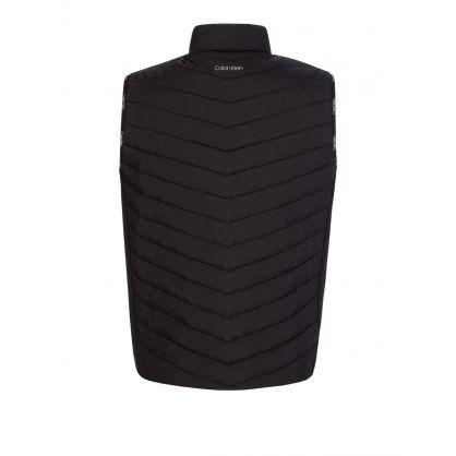 Black Crinkle Nylon Padded Gilet