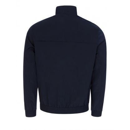 Navy Crinkle Nylon Blouson Jacket