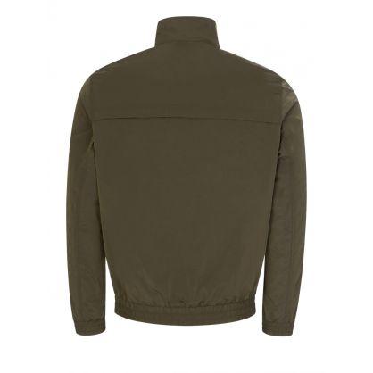 Green Crinkle Nylon Zip-Up Jacket