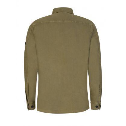 Green Garment Dye Overshirt