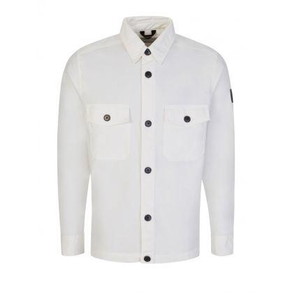 White Garment Dye Overshirt