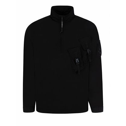 Black Garment-Dyed Chrome Overshirt