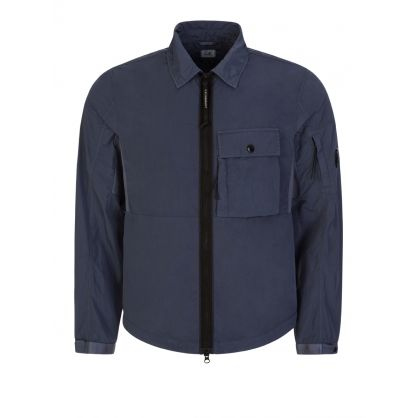 Blue Zip-Through Overshirt