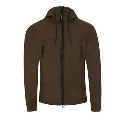 Green Hooded Zip-Through Jacket