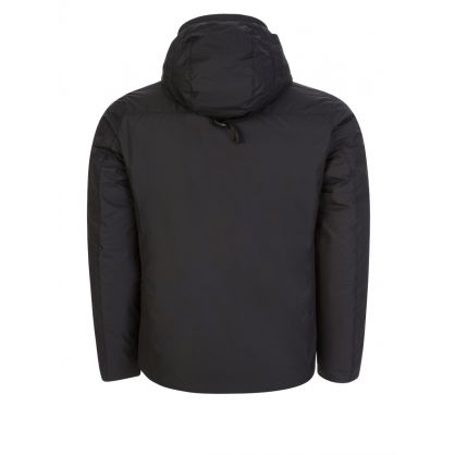 Black Hooded Snood Microfibre Jacket