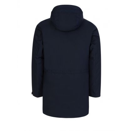 Navy Micro M Hooded Down Jacket