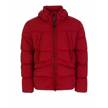 Red Nycra Padded Goggle Jacket
