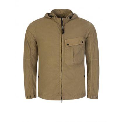 Brown Chrome-R Hooded Goggle Overshirt